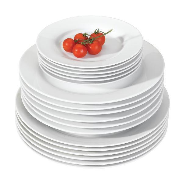 basic assiette plate x 6. Black Bedroom Furniture Sets. Home Design Ideas