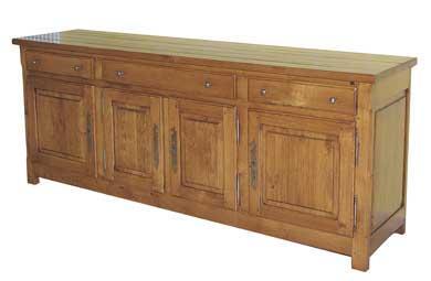 buffet 4 portes rustique ref buffet050. Black Bedroom Furniture Sets. Home Design Ideas