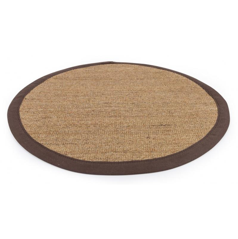 tapis rond en sisal coloris brun fonc 180 cm pegane comparer les prix de tapis rond en sisal. Black Bedroom Furniture Sets. Home Design Ideas