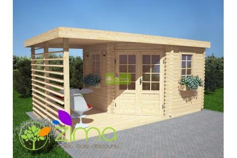 Cabanes en bois abri de jardin moderne 9m for Cabane en bois moderne