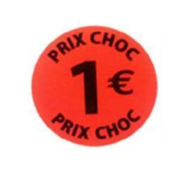 étiquette adhésive  1eur prix choc