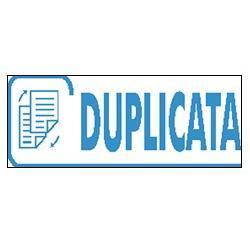 TAMPON À FORMULE COMMERCIALE TRODAT  XPRINT 4992  DUPLICATA   1 LIGNE BLEU