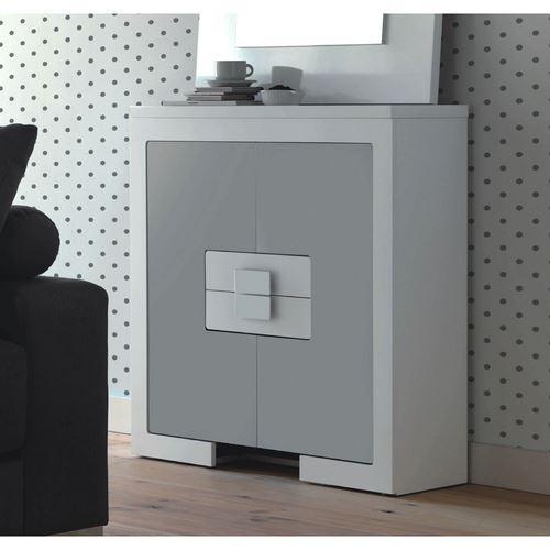 Autres mobiliers de rangement comparez les prix pour - Meuble laque gris ...