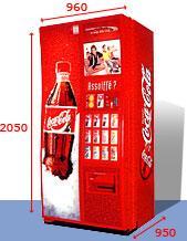 Distributeur automatique de coca cola rv 804 porte design - Meuble coca cola ...