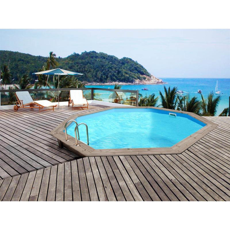 Piscine bois venecia x habitat et jardin for Enterrer piscine tubulaire