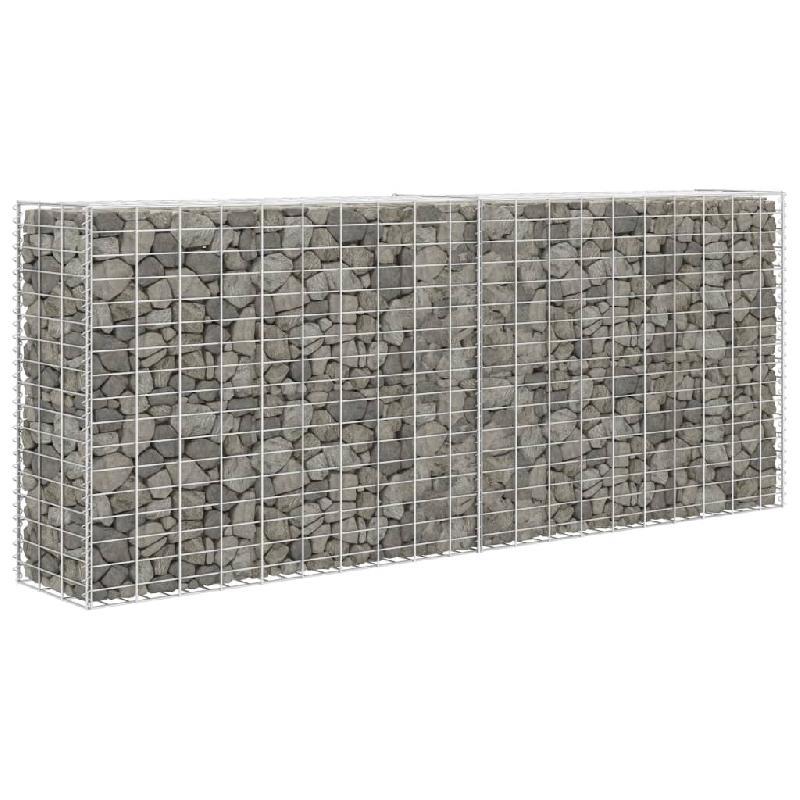 Vidaxl panier de gabion acier inoxydable 85 x 30 x 200 cm
