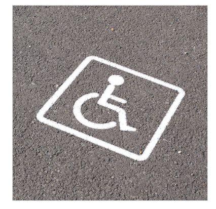 12637 - pochoir handicapé - direct signaletique - en pvc de 5 mm