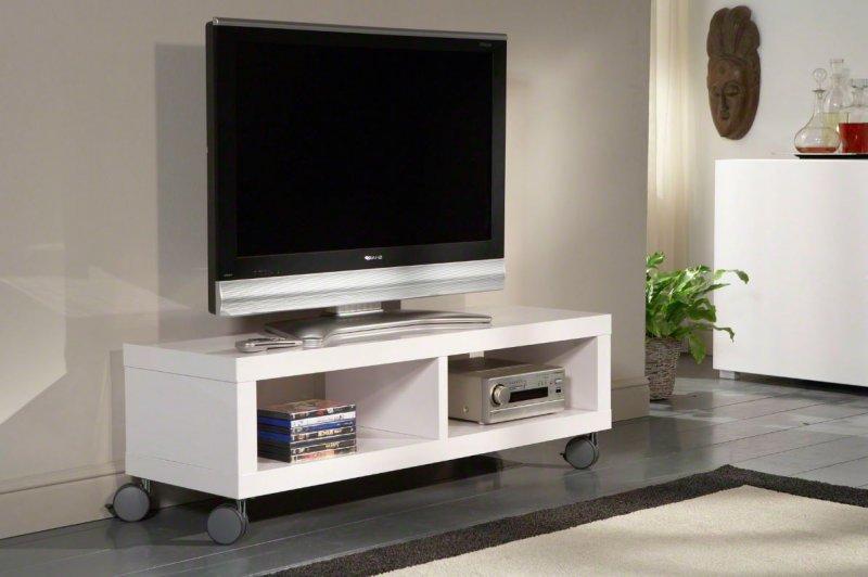 meuble tv design laque blanc amovible troye – Artzeincom -> Meuble Tv Design Pour Ecran Plat