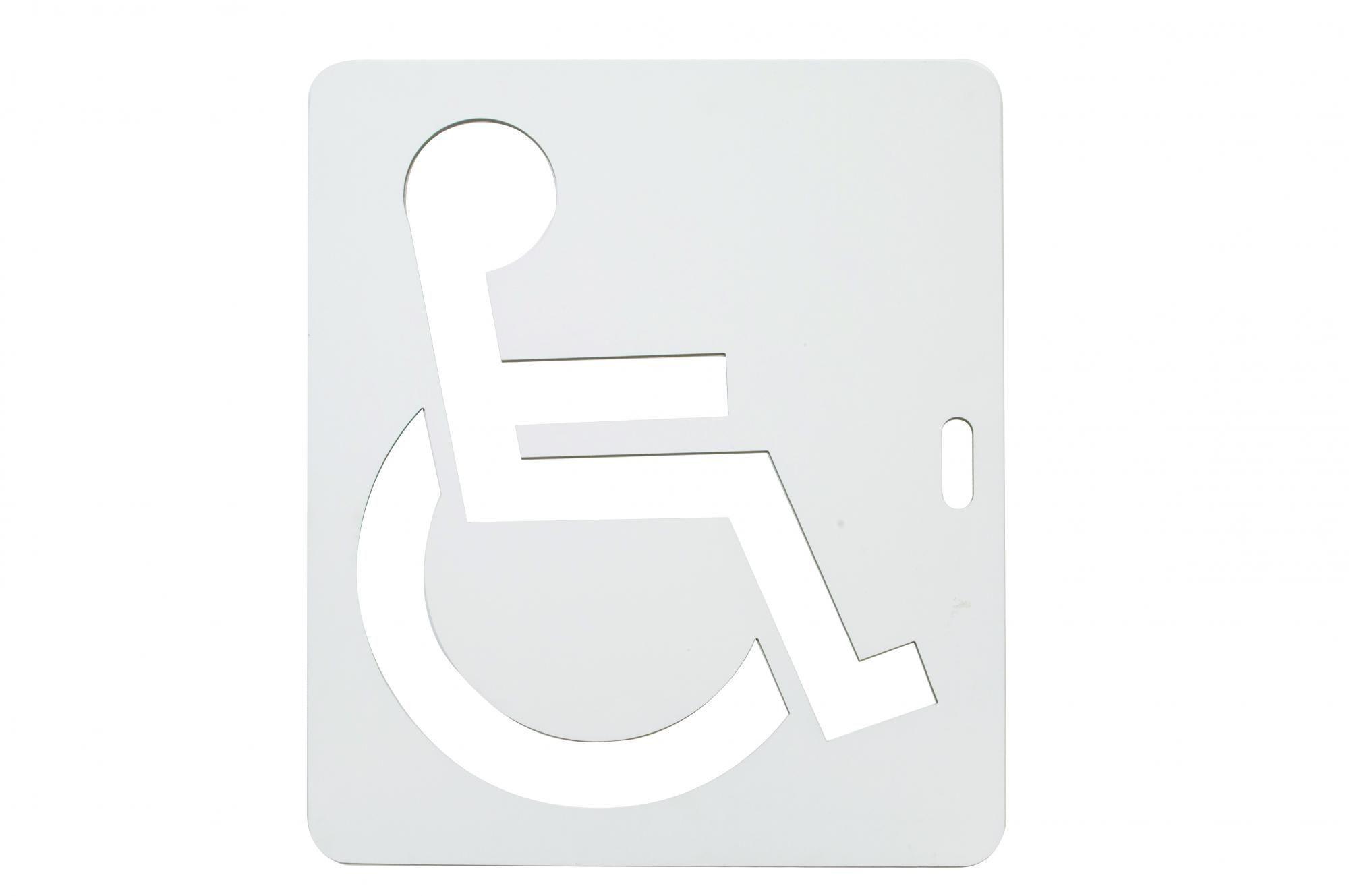 Pma0329 - pochoir handicapé - ore peinture - longueur : 25 cm