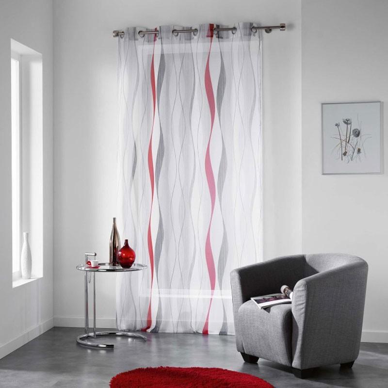 Rideaux de fenetre tous les fournisseurs rideau - Rideau voilage gris et rouge ...