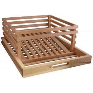 Tiroir pomme de terre en bois pour légumier - tiroir 242