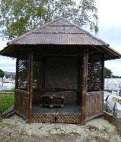 Kiosque en bambous