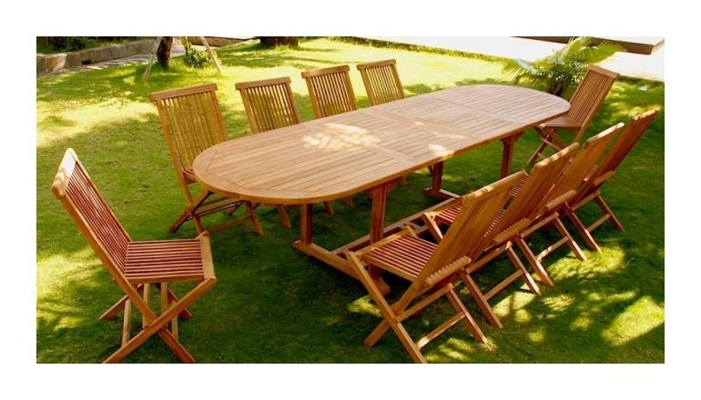 kajang salon de jardin teck massif 10 12 pers table. Black Bedroom Furniture Sets. Home Design Ideas