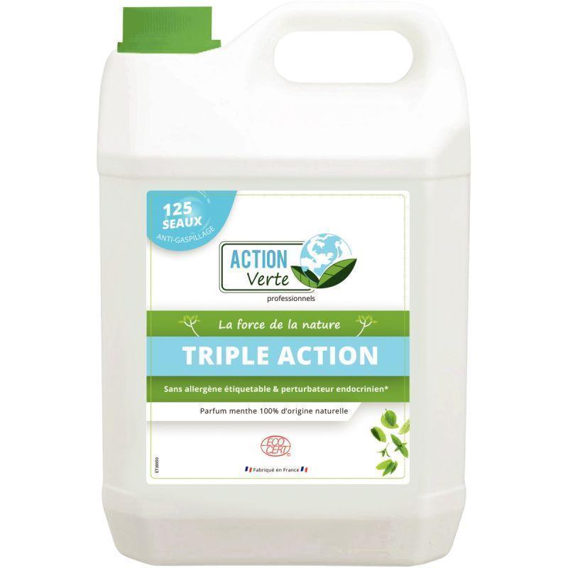 Bidon 5 litres nettoyant sols et surfaces triple action senteur menthe
