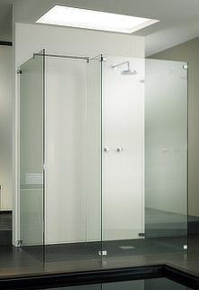 cabine et parois de douche walk in avec 2 parois fixes. Black Bedroom Furniture Sets. Home Design Ideas