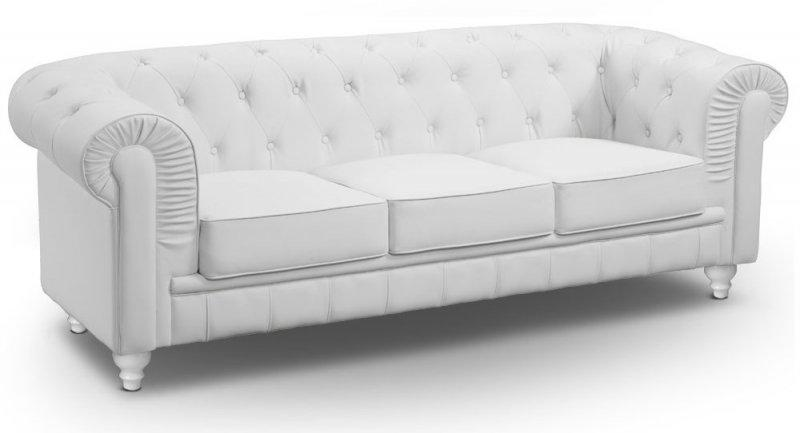 canape chesterfield royal 3 places blanc. Black Bedroom Furniture Sets. Home Design Ideas