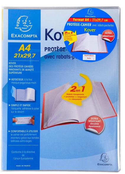 Prot ge cahiers exacompta achat vente de prot ge cahiers exacompta comparez les prix sur - Protege table transparent epais ...