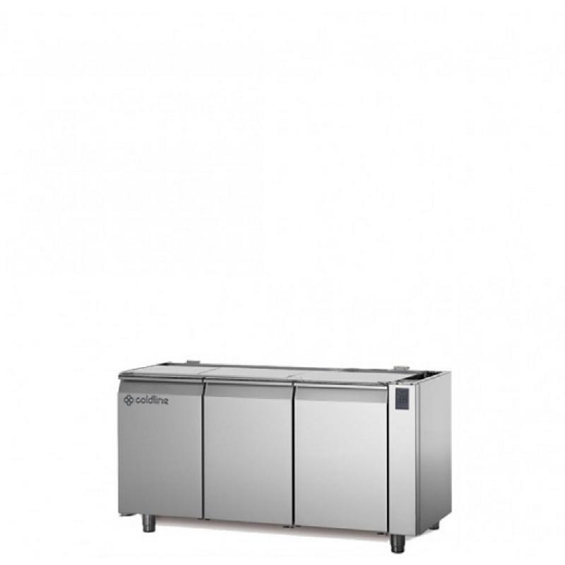 Table réfrigérée positive master sans plan de travail sans groupe 3 portes 356 litres - ts171mqr-2