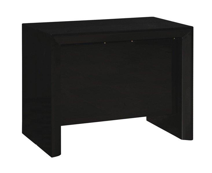 Console extensible misty noir brillant allonges integrees - Console extensible noire ...