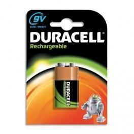 DURACELL BLISTER DE 1 ACCU RECHARGEABLE HR9V 1,2VOLT +CCR