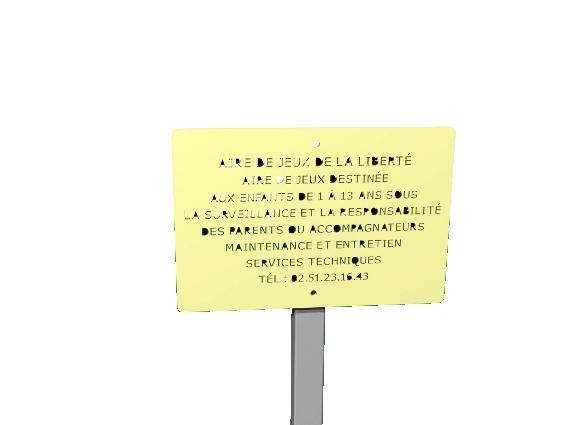 Plaque d 39 information comparez les prix pour for Panneau inox autocollant