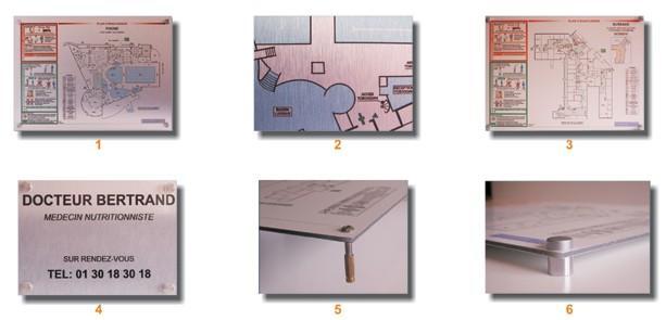 plaque alu brosse ou blanc dibond. Black Bedroom Furniture Sets. Home Design Ideas