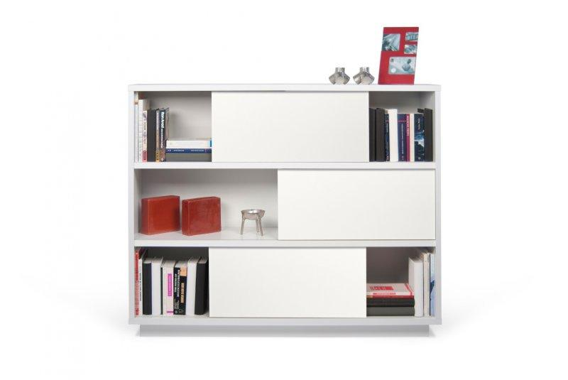 Nilo 6 Casiers Bibliotheque Etagere Laquee Blanc Matte