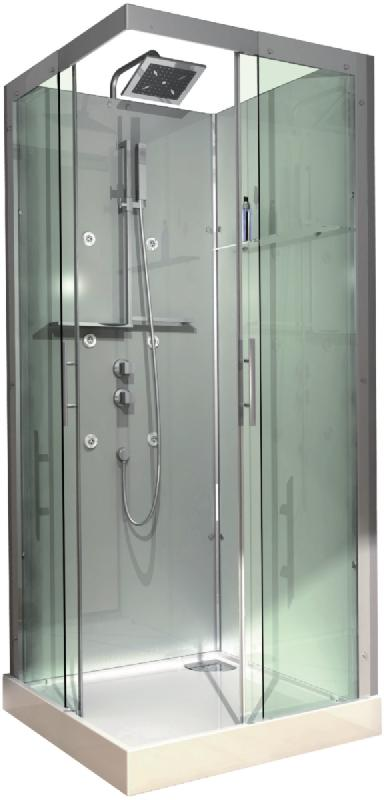 cabine domino complete carree 90x90 cm version hydro. Black Bedroom Furniture Sets. Home Design Ideas