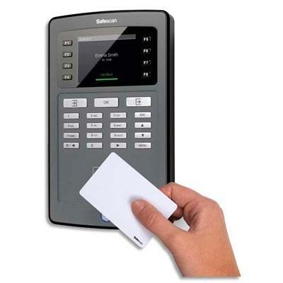 SYSTÈME DE POINTEUSE ÉLECTRONIQUE SAFESCAN  TA 8015 NOIRE - WIFI INTÉGRÉ DIM. : L15 X H25,1 X P4,5 CM