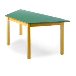 table trapeze en hetre. Black Bedroom Furniture Sets. Home Design Ideas