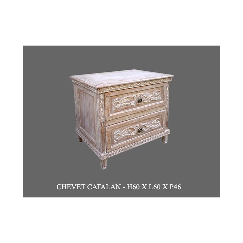 chevet en bois ceruse modele catalane 126 events. Black Bedroom Furniture Sets. Home Design Ideas