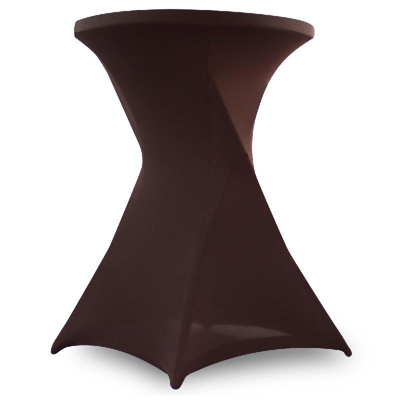 Housse de mange-debout marron 110x80 cm