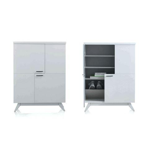rangement blanc laque maison design. Black Bedroom Furniture Sets. Home Design Ideas