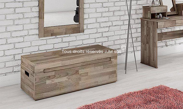 petits meubles de chambre coffre de rangement chene massif. Black Bedroom Furniture Sets. Home Design Ideas