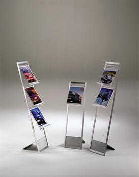 presentoir porte brochures sur pied alice 1. Black Bedroom Furniture Sets. Home Design Ideas