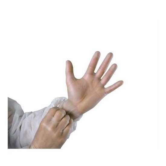 100 gants vinyle non poudrés taille 9 blancs mutexil