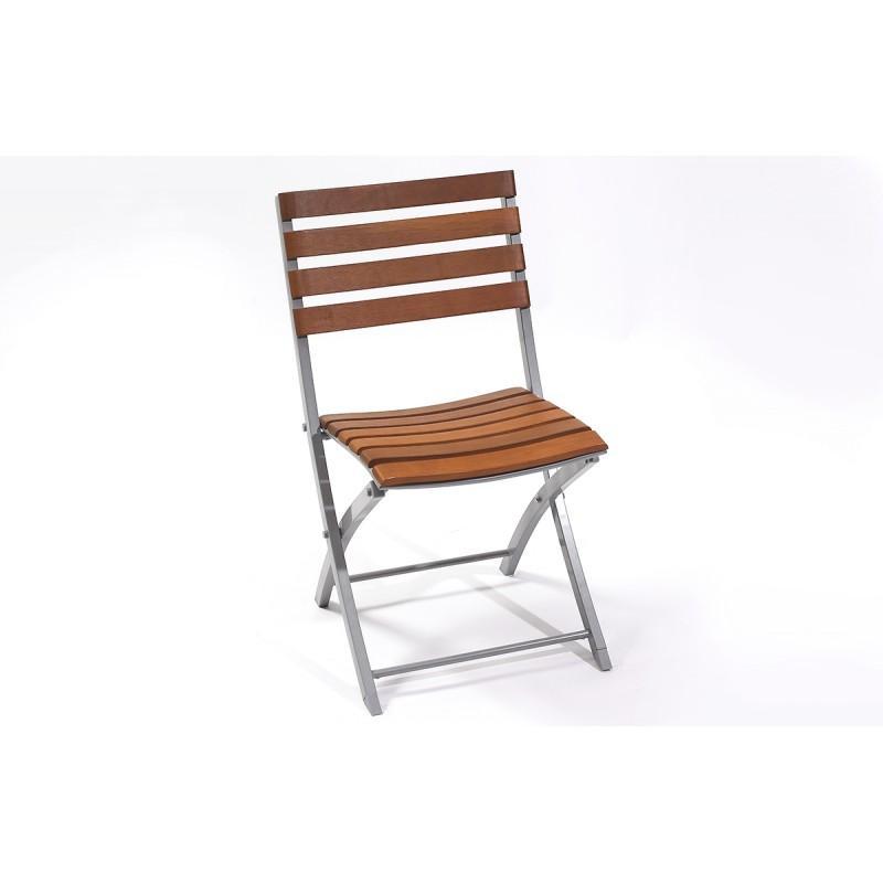 Si ge pliable en aluminium tous les fournisseurs de for Chaise bois pliante