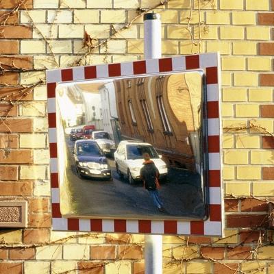 Miroir routier inox pour signalisation for Miroir inox incassable