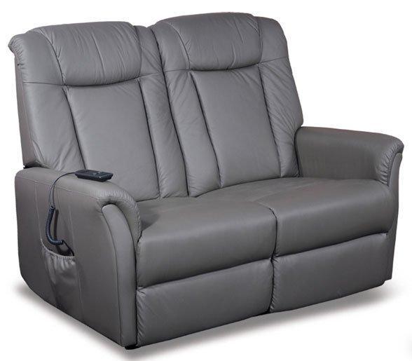 celeste canape 2 places relax electrique cuir vachette gris. Black Bedroom Furniture Sets. Home Design Ideas