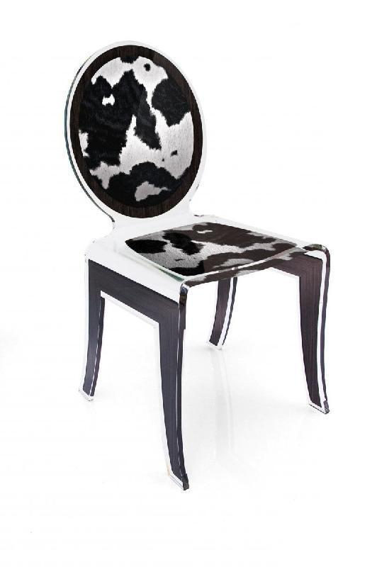 wild chaise design en plexi vache noire blanche par acrila. Black Bedroom Furniture Sets. Home Design Ideas