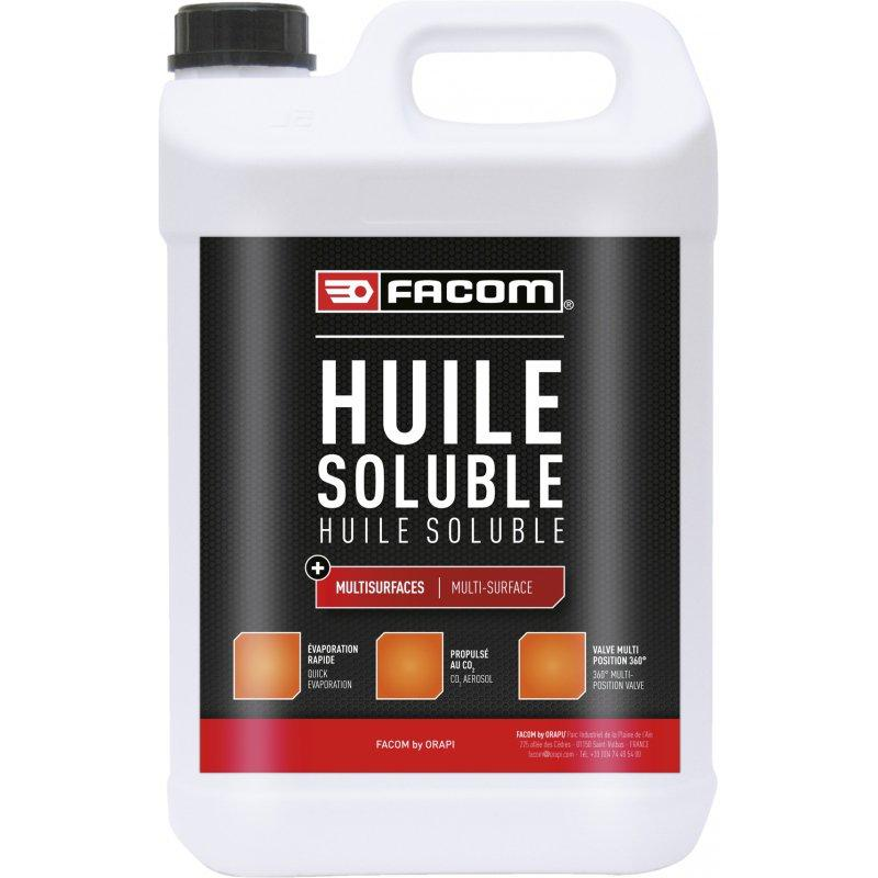 HUILE SOLUBLE JERRICANE 5 LITRES 136205 | FACOM BY ORAPI