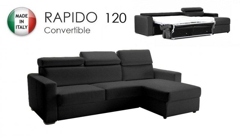 Canape d 39 angle reversible rapido sidney deluxe 120 cm for Canape 120 cm