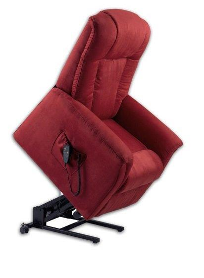 freedom fauteuil relax et releveur electrique microfibre rouge. Black Bedroom Furniture Sets. Home Design Ideas