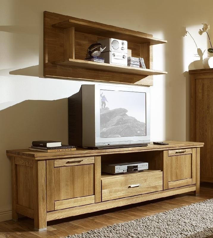 Meuble tv en chêne massif collection porto