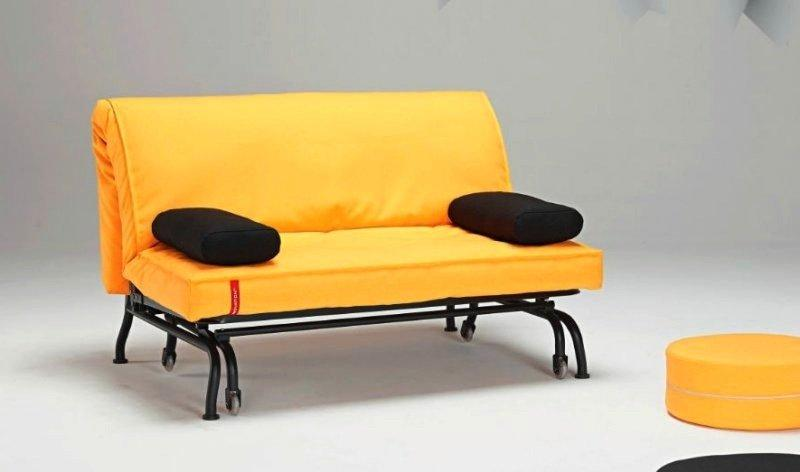 canape lit bz loop jaune design clic clac convertible 200 140. Black Bedroom Furniture Sets. Home Design Ideas