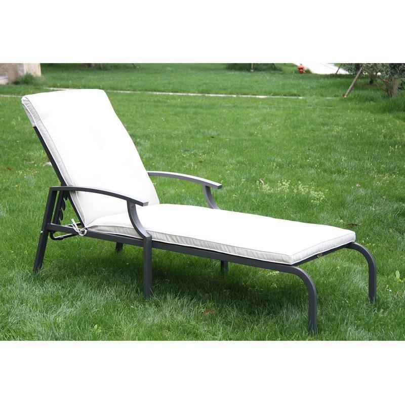 Chaise longue outsunny achat vente de chaise longue for Transat et chaise longue