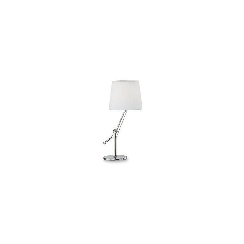 LAMPE DE TABLE NICKEL REGOL 1 AMPOULE IDEAL LUX