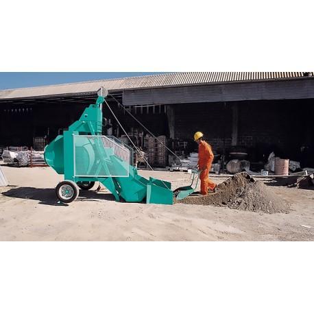 Bétonnière à chargeur hydraulique bio 400 à tambour horizontal imer