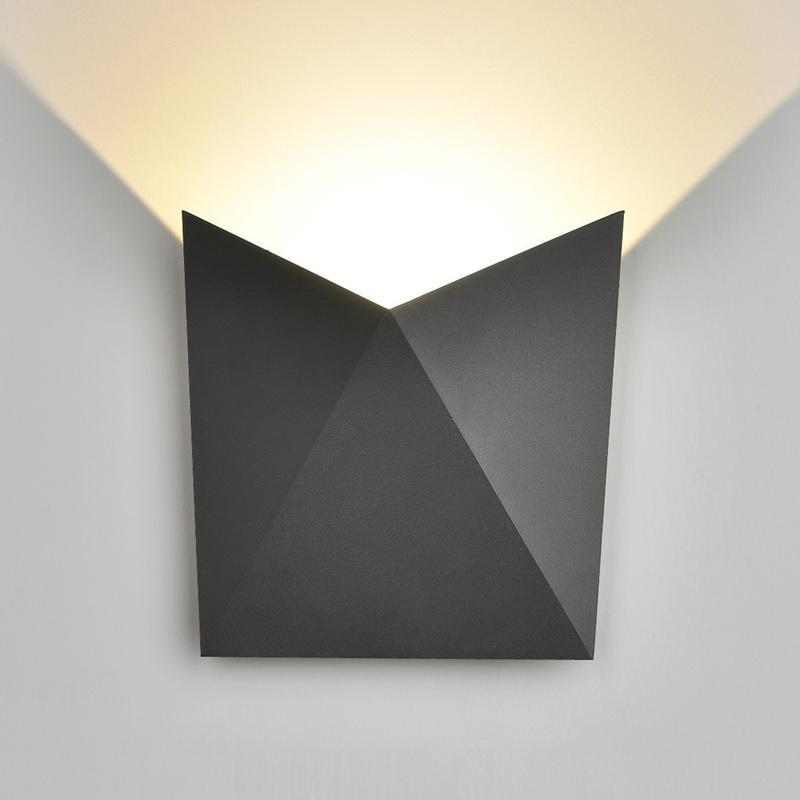 Applique Biard Murale Extérieure Bidirectionnelle Noire 6w lFK1JTc