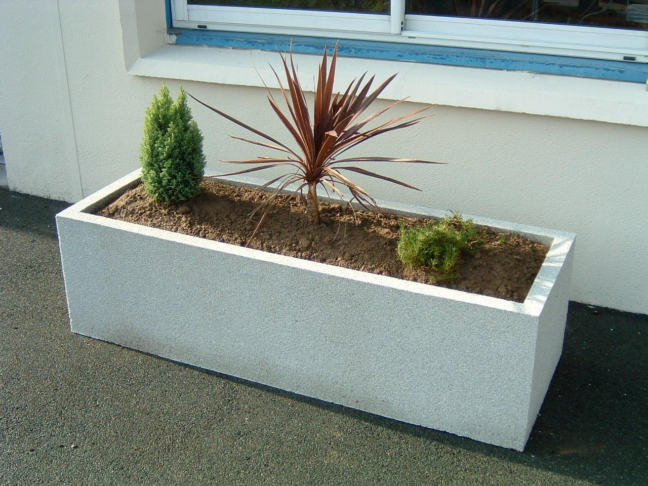 jardiniere rectangulaire beton. Black Bedroom Furniture Sets. Home Design Ideas